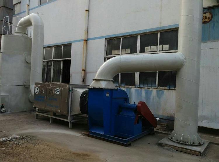 喷漆车间废气处理设备安装使用中