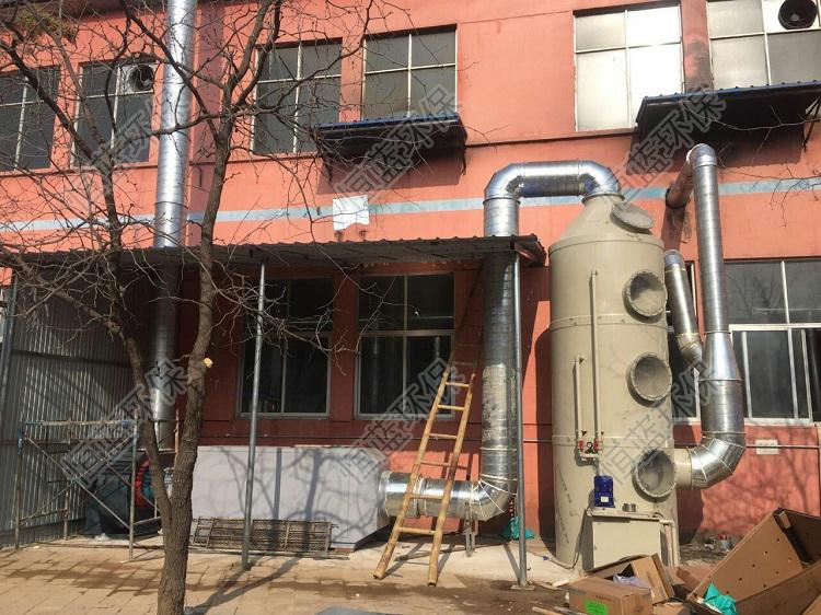 图为橡胶厂污染整治设备安装后实拍