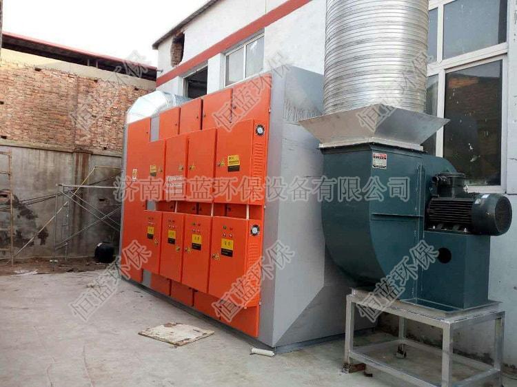 河北家具厂安装废气处理设备后实拍