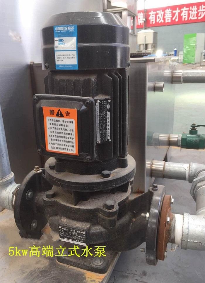 立式水泵+2mm厚水池,废气残渣由水池捞出。