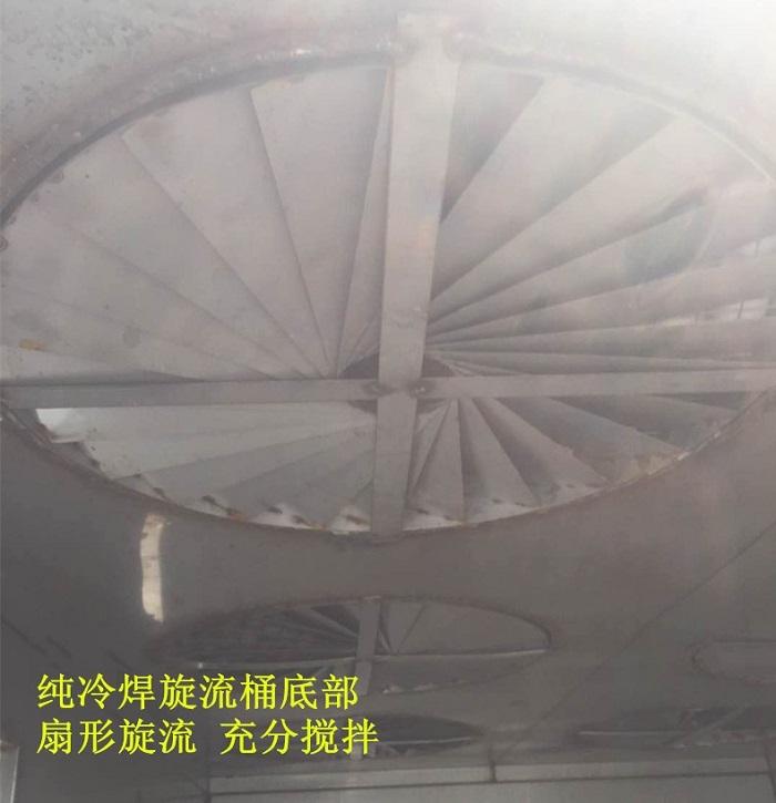 多重旋流板,风扇式旋流,使气体与药球充分搅拌,提高净化效率