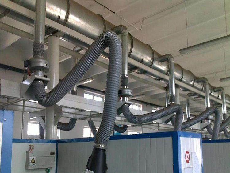 车间焊接烟尘治理内部安装的管道
