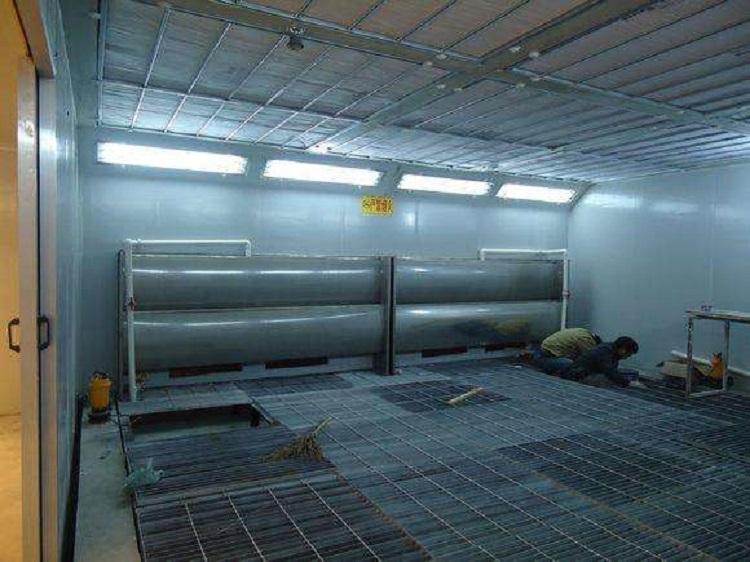 图为喷漆房喷涂废产生车间