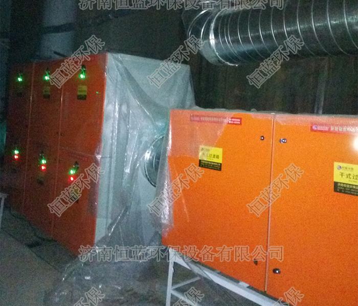 油漆废气处理设备安装完毕使用中