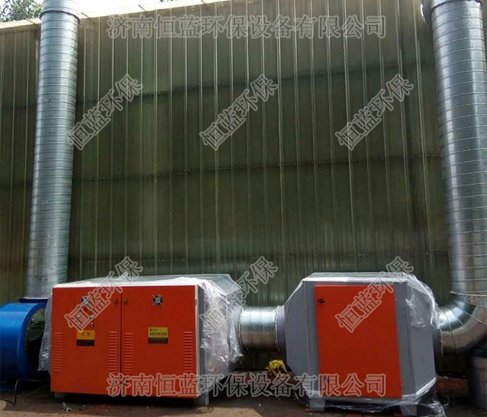 一套比较简单喷漆房废气处理设备