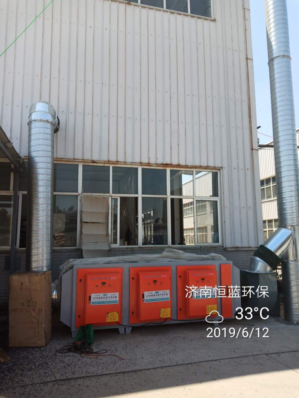 印刷行业voc废气治理设备安装完毕实拍图