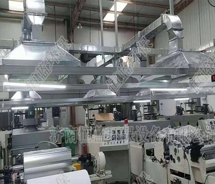 印刷行业废气治理设备车间内部收集罩