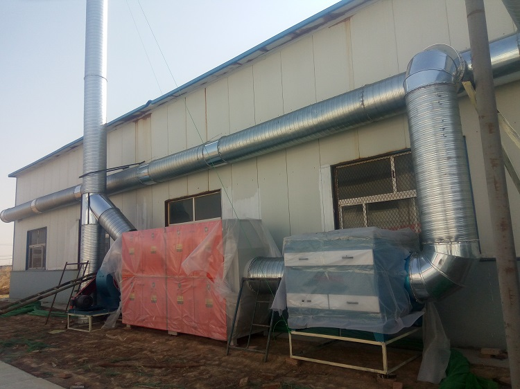 印刷行业废气治理设备安装完毕实拍图