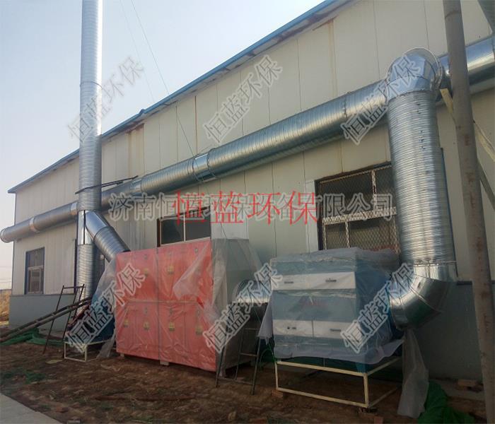 塑胶工厂排出的废气处理设备