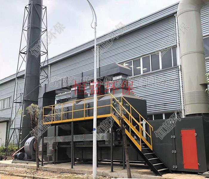 塑胶工厂排出的催化燃烧废气处理设备