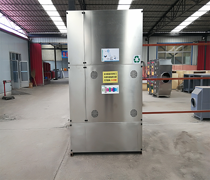 小型喷漆厂用的废气处理设备实拍图